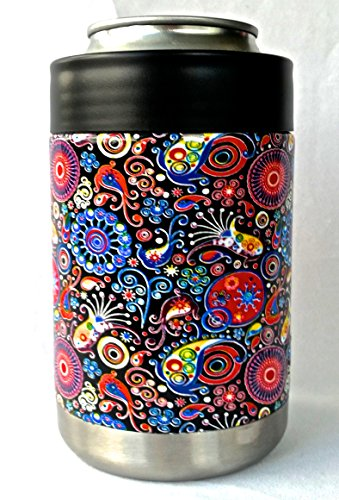 Yeti Coolers Dipped Rambler Colster Koozie - Keep your 12 oz beer or soda, can or bottle, cold for hours (Paisley)