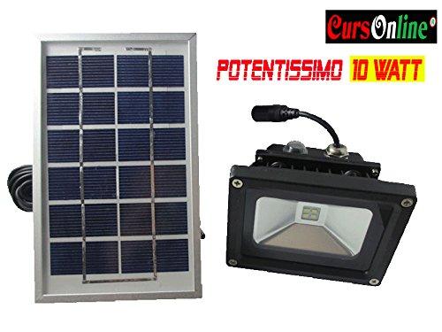 Faro Con Pannello Solare Prezzo : Cursonline faro led con pannello solare e batteria