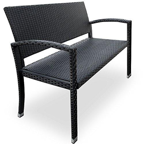 Polyrattan-Gartenbank-2-Sitzer