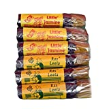 LITTLE JASMINE + RAS LEELA - COMBO PACK OF 3 LITTLE JASMINE AND 3 RAS LEELA (810GMS) PREMIUM SCENTED INCENSE STICKS...