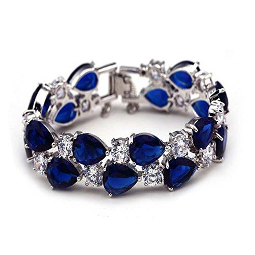 Belbanu-Hearts-Shape-White-Gold-Plated-Clear-Stone-Diamond-Bracelet-Womens-Trendy-Style-Jewelry-Fashion