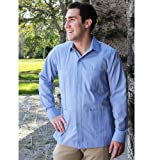 Deluxe Long Sleeve blue Guayabera by Mycubanstore