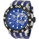 Invicta Men's 0906 Reserve Chronograph Blue Dial Blue Rubber Watch