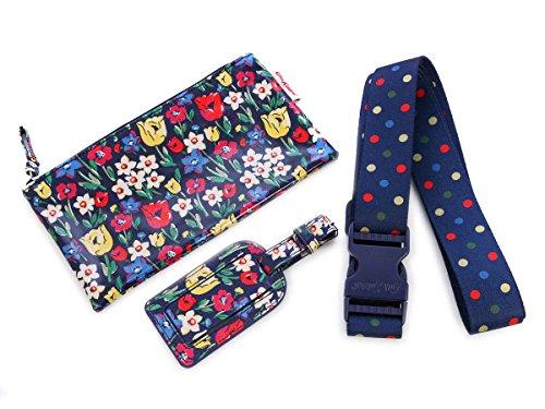 Cath Kidston キャスキッドソン スーツケースベルト ギフトセット 2015年春夏 Luggage Accessories Gift Set Paradise Firlds Indigo [並行輸入品]