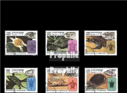 Kambodscha 1868-1873 (kompl.Ausg.) gestempelt 1998 Schildkröten (Briefmarken für Sammler)