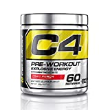 Cellucor C4 Pre Workout Supplements with Creatine, Nitric Oxide, Beta Alanine and Energy, 60 Servings, Fruit Punch