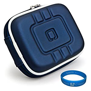 VG EVA Camera Case (Blue) for Olympus VH-515 / VH-410 / TG-1 iHS / TG-820 iHS / VG-160 / TG-320 / VR-330 / TG-610 / TG-310 / FE-5040 / FE-5035 / FE-47 / FE-5020 / FE-45 / X-935 / FE-4000 / X-925 / Stylus Tough 6020 / 8010 / 3000 / mju Tough 6020 / 8010 / 3000 Point & Shoot Digital Cameras + Universal Screen Protector + SumacLife TM Wisdom Courage Wristband