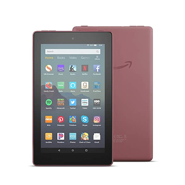 All-New Fire 7 Tablet (7 display, 32 GB) - Plum (Color: Plum)