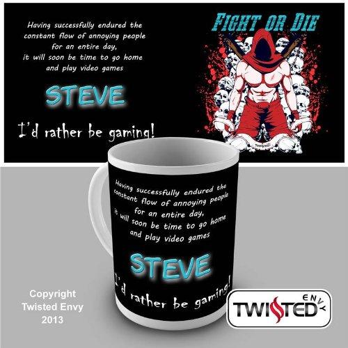 Custom Persoanlised Gamers Mugs Novelty Mug Tea Coffee Gift Office Cup