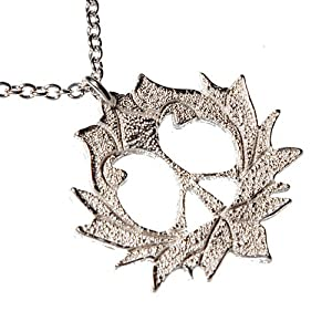 Peace Lotus Silver-dipped Pendant Necklace on 18