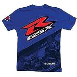 Suzuki GSXR Gixxer GSX-R Back Straight Short Sleeve T-Shirt Blue Medium