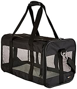 AmazonBasics Black Soft-Sided Pet Carrier Large