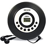 Jaras® Limited Edition Jensen Slim Personal CD Player System with LCD Display Bass Boost 60-second Anti Skip CD-R/RW Compatible & Ear-buds Gift Box