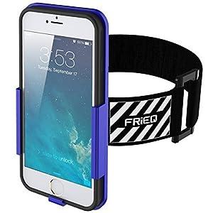 FRiEQ Brassard Armband pour iPhone 6 (4.7'') - Léger et entièrement ajustable - Idéal pour l'entraînement, la randonnée, le jogging, la gym ou autres sports (Bleu)
