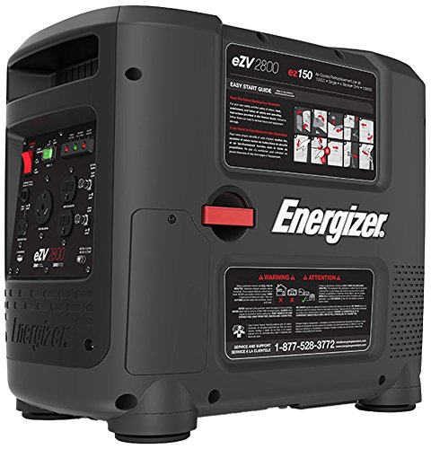 Energizer Ezv2800 2800-Watt Portable Inverter Generator, Carb Approved