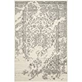 Safavieh Adirondack Collection ADR101B Ivory and Silver Area Rug, 6 feet by 9 feet (6' x 9')