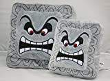 "Super Mario Bros. 8"" & 12"" Thwomp Dossun Soft Stuffed Plush Cushion Pillow 2pcs"