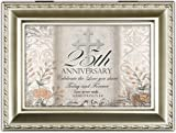 Cottage Garden 25Th Anniversary Champagne Silver Music Box / Jewelry Box Plays Amazing Grace
