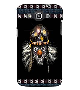 PrintDhaba Skull with Helmet D-3573 Back Case Cover for SAMSUNG GALAXY WIN i8552 (Multi-Coloured)