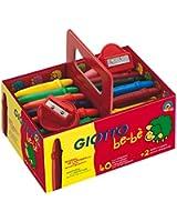 Giotto Bébé 462700 Paquet de de 40 crayons à la cire incassables + 2 taille crayons