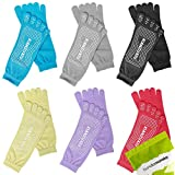 Bundle Monster 6 Pairs Womens Anti-Slip Grip Workout Yoga Mix Color Feety Socks