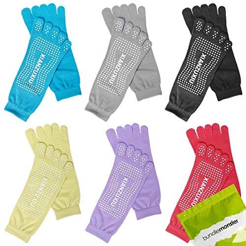 bundle-monster-6-paia-da-donna-anti-scivolo-allenamento-yoga-mix-colore-feety-calze