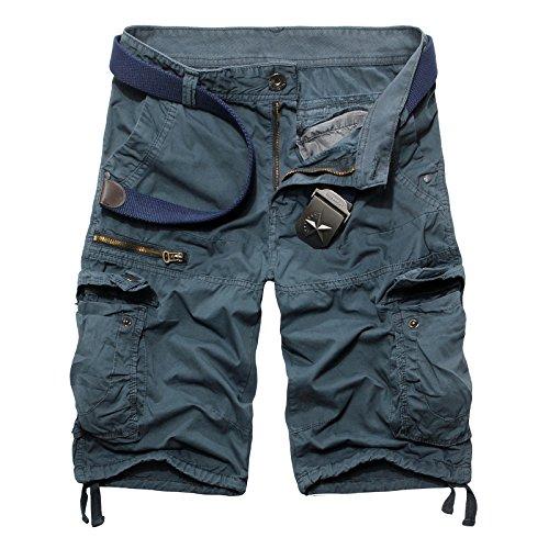 hacool -  Pantaloncini  - Uomo Light Blue Etichetta,30/30,7W x 22,9L