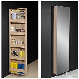igma mirrored rotating bathroom shoe storage cabinet 1189
