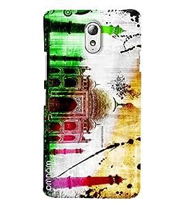 Omnam Incredible India Beautiful Taj Mahal Color Printed Designer Back Cover Case For Lenovo Vibe P1 M