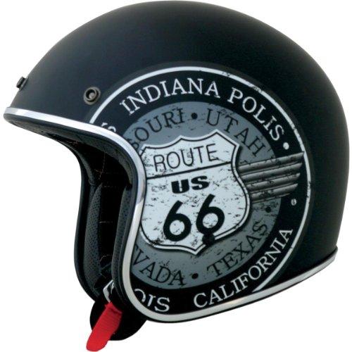 AFX FX-76 Route 66 Open Face Helmet Black XXXL/XXX-Large