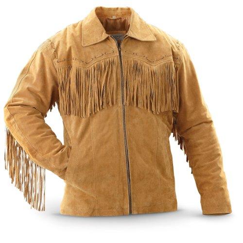 Vintage - style Western Fringed Leather Jacket