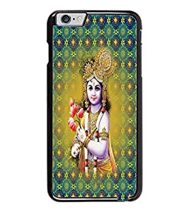 PrintDhaba Lord Krishna D-2665 Back Case Cover for APPLE IPHONE 6 (Multi-Coloured)