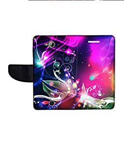 KolorEdge Printed Flip Cover For Acer Liquid Z530 Multicolor - (1478-50KeMLogo11197AcerZ530)