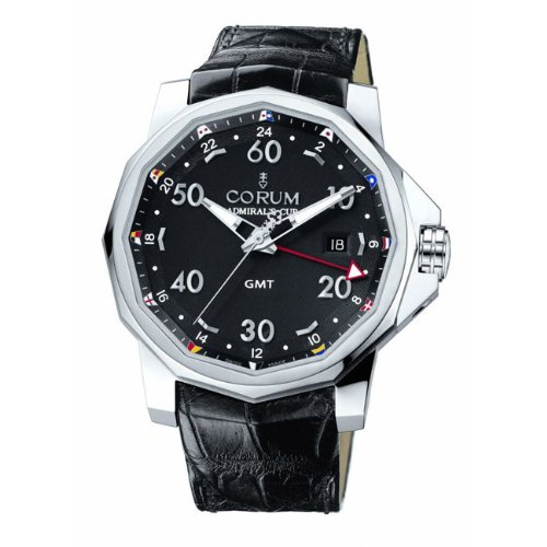 Corum Men's 38333020/0F81AN Admirals Cup GMT 44 Black Dial Watch