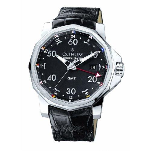 Corum Men's 38333020/0F81AN Admirals Cup GMT 44 Black Dial Watch