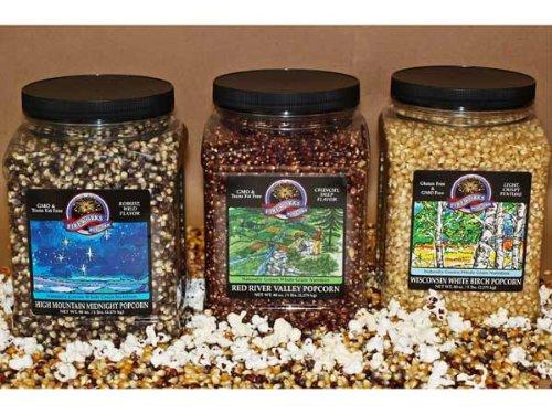Gourmet Popping Corn Assortment - Three 5 Lb. Bottles