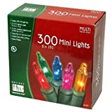 Holiday Wonderland's 300-Count Mini Multi Color Christmas Light Set