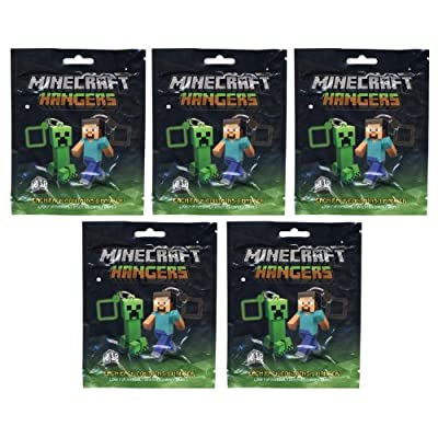 Official Minecraft 3 Toy Action Figure Hanger Blind Package 5 Pack Lot by Jinx