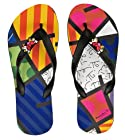 Romero Britto Flip Flops by Dupe - Heart Design (10-11)