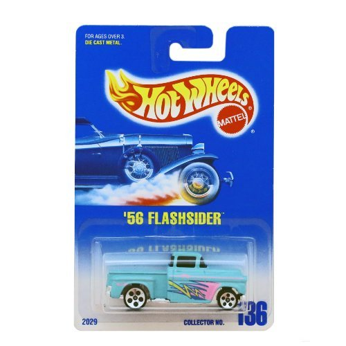 56 Flashsider Hot Wheels #136 1991 Silver 5 Dot Wheels Blue/white Card - 1