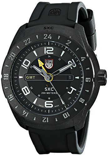 Luminox Men's 5021 SXC PC Carbon GMT Analog Display Analog Quartz Black Watch