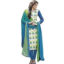Jinaam Dress Women's Printed Bhagalpuri Salwar Suit Dupatta Material