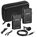 Movo WMIC10-G 2.4GHz Wireless Lavalier Microphone System for GoPro HERO3, HERO3+ and HERO4 Black, White and Silver Editions (82-foot Transmission Range)
