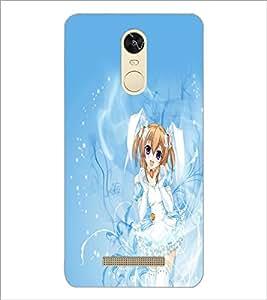 PrintDhaba Cute Girl D-2263 Back Case Cover for XIAOMI REDMI NOTE 3 PRO (Multi-Coloured)