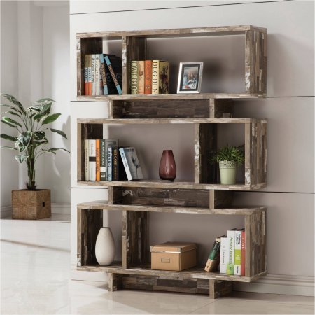 coaster-3-tier-salvaged-cabin-bookcase-silver-finish