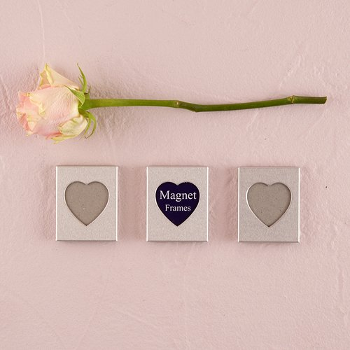 Mini-Magnet-Back-Aluminum-Heart-Photo-Frames