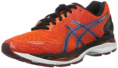 Asics Gel-Nimbus 18, Scarpe da Corsa Uomo, Multicolore (Flame Orange/Black/Silver), 42 1/2 EU
