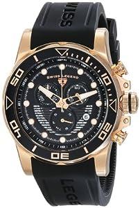 Swiss Legend Men's 21368-RG-01 Avalanche Analog Display Swiss Quartz Black Watch