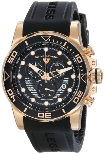 Swiss Legend Men's 21368-RG-01 Avalanche Analog Display Swiss Quartz Black Watch