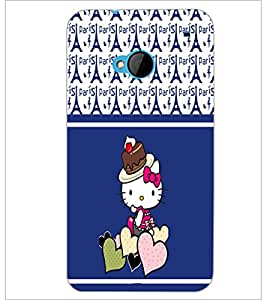 PrintDhaba Kitty D-2776 Back Case Cover for HTC ONE M7 (Multi-Coloured)